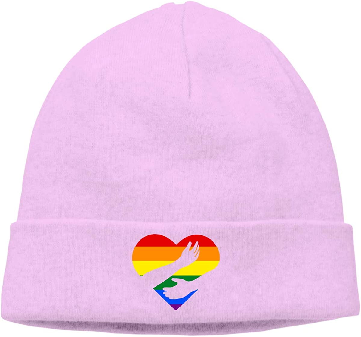 Unisex Knitted Hat Skull Hat Beanie Cap Hug Flag of LGBT Pride Rainbow Flag