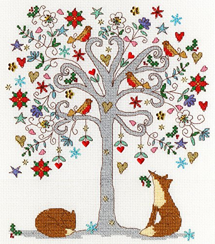 Love Winter Cross Stitch Kit by Bothy Threads