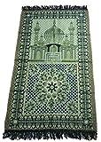 HDI Muslim Prayer Mat Lightweight Thin Istanbul Turkey Sajadah Carpet Islam Eid Ramadan Gift (Black)