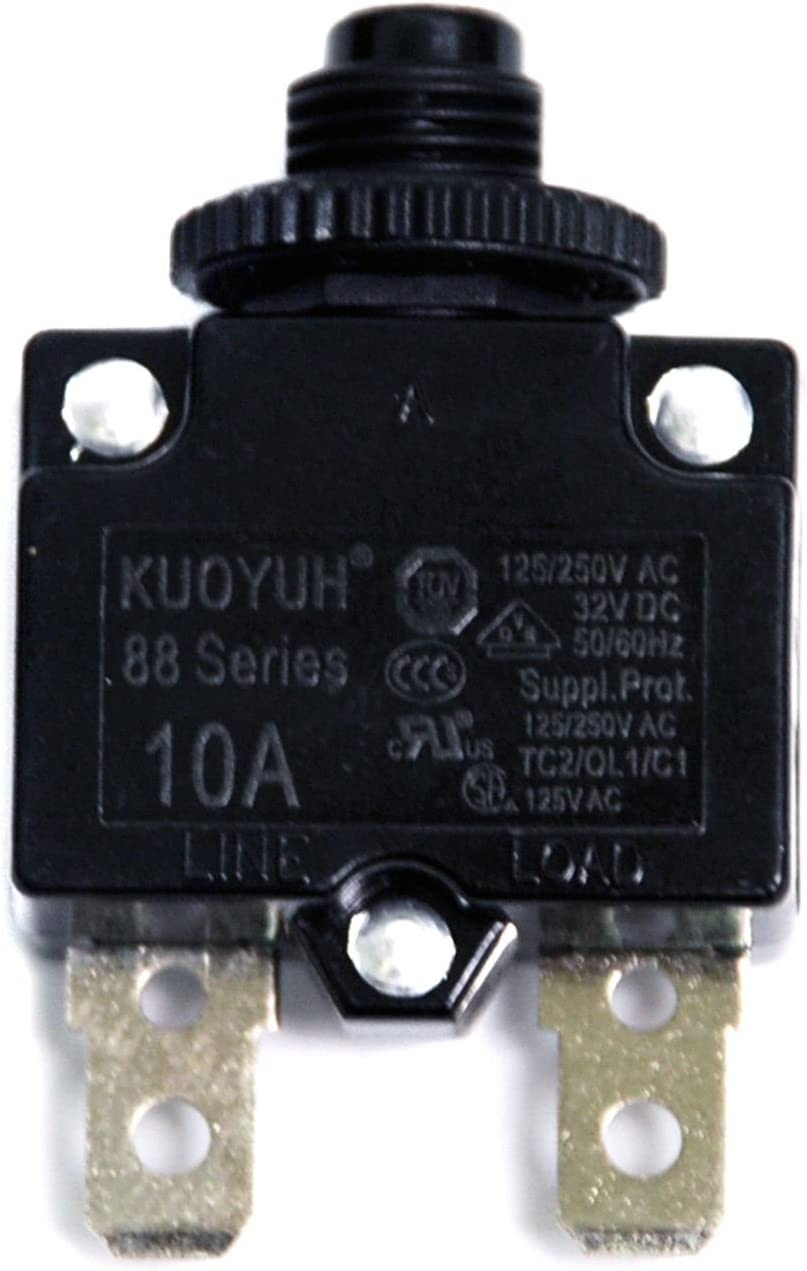 1pc KUOYUH 15A 88AR Series Circuit Breaker 125//250VAC 50//60Hz