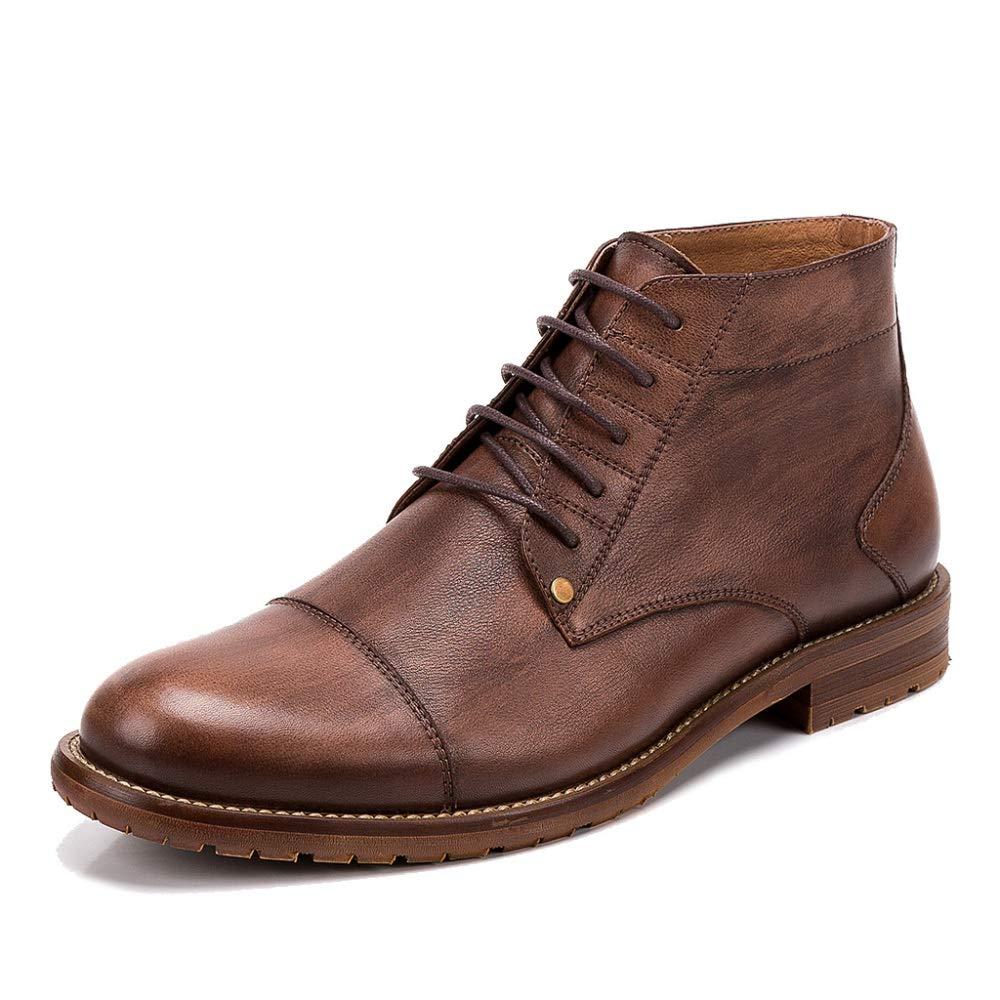 485cf3ac9fefc MERRYHE Cepillos De Cuero Lace Up Martin Botas para para para Hombre  Vintage Botines Desert Botas Trabajo Utility Footwear Smart Trekking Zapatos  De ...