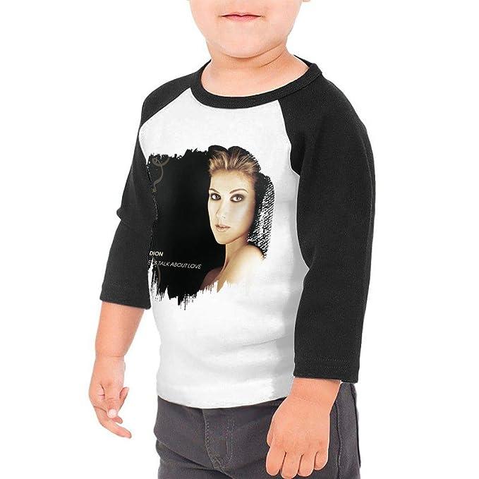 817906af4 Amazon.com: Toddler Celine Dion Let's Talk About Love 3/4 Sleeve Raglan  Baseball T-Shirts for Girls & Boys Black: Clothing