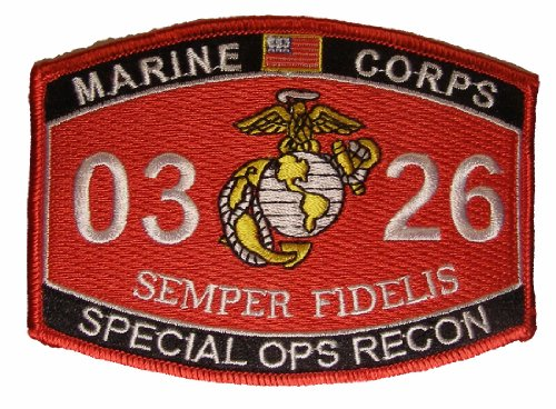 United States Marine Corps MOS 0326 Special OPS RECON MOS Military Patch - Veteran Owned Business