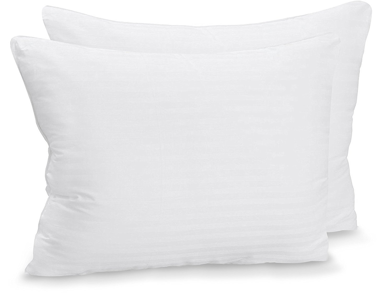 Utopia Bedding Premium Fiber Filled Bed Pillows - (Standard/Queen Size 20 x 26 Inches) - Set of 2 Cotton Pillows Sleeping - Fluffy Soft Pillows