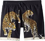 Dolce & Gabbana Kids Boy's Shorts (Big Kids) Black Leopard Print 8