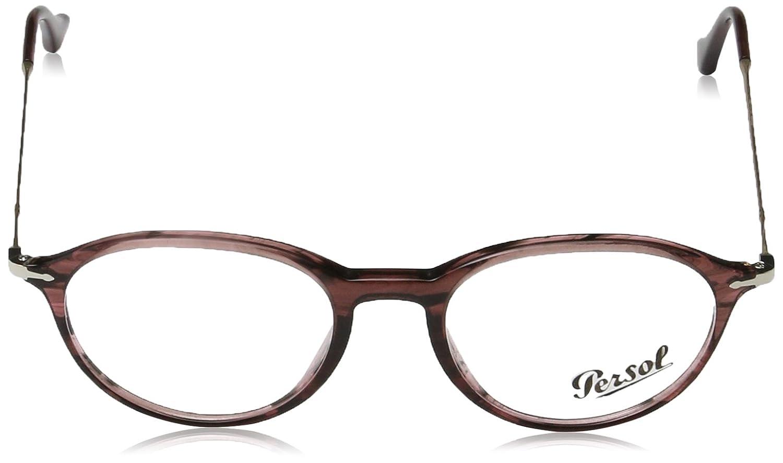 Persol Mens PO3125V Eyeglasses Striped Cherry 51mm