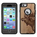 Skin Decal for Otterbox Defender Apple iPhone 6 Plus Case - Sketched Moose on Wood