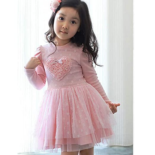 Amazon Com Superon Lovely Girls Long Sleeve Dress Kids Wedding