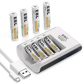 Amazon.com: EBL 807 cargador de batería: Electronics
