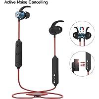 Janazan Sweatproof Wireless in Ear Magnetic Charging Sports Headsets with Microphone