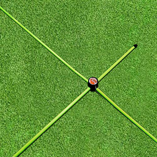 Elixir Golf The Swing Plane Trainer Putting Practice Alignment Rods Training Aids with Right Angle Connector, Green