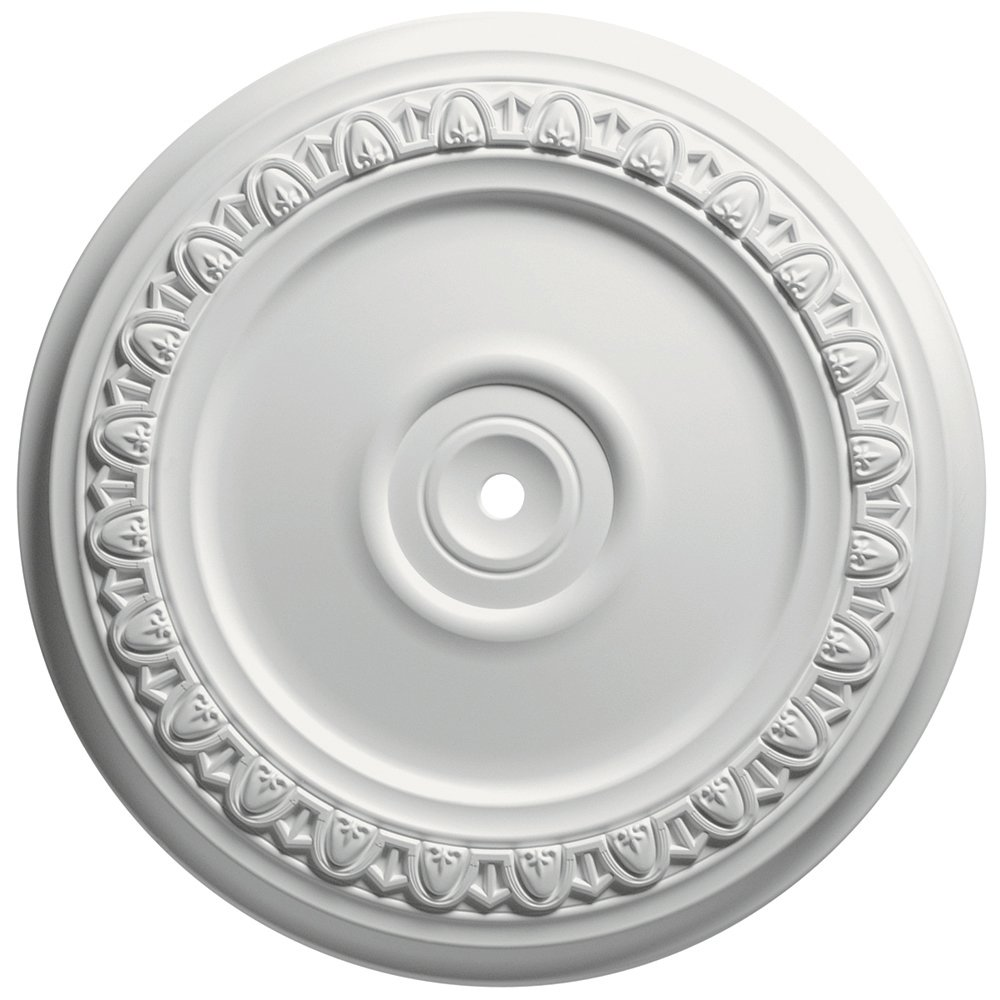 Focal Point 83318 18-Inch Egg and Dart Medallion 18 5/8-Inch by 18 5/8-Inch by 1 1/8-Inch, Primed White