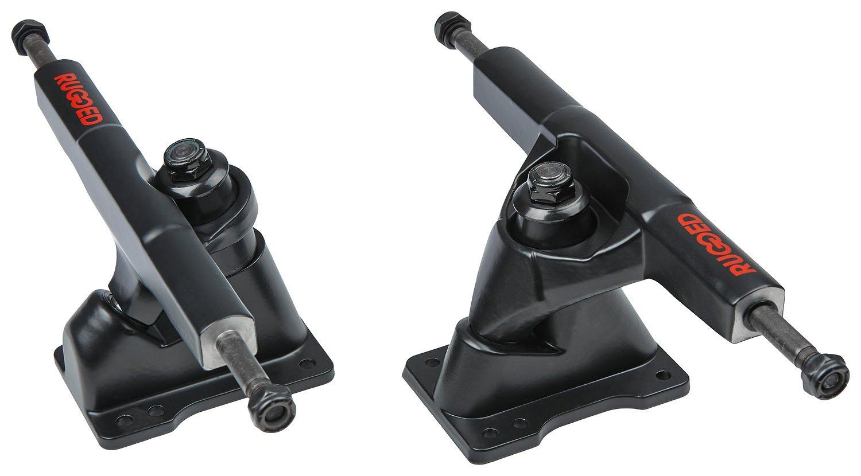 Carving / Pumping Achse RUGGED Skatesurfer Trucks 6.3' Set black
