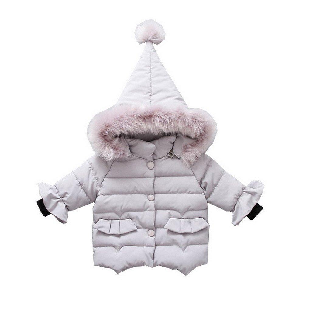 Evedaily Autunno Neonato Inverno Pelliccia Faux Line Lungo Piumino Cappotto Piumino Con Cappuccio Giacca Caldo Mantello Spessa Vestiti Caldi