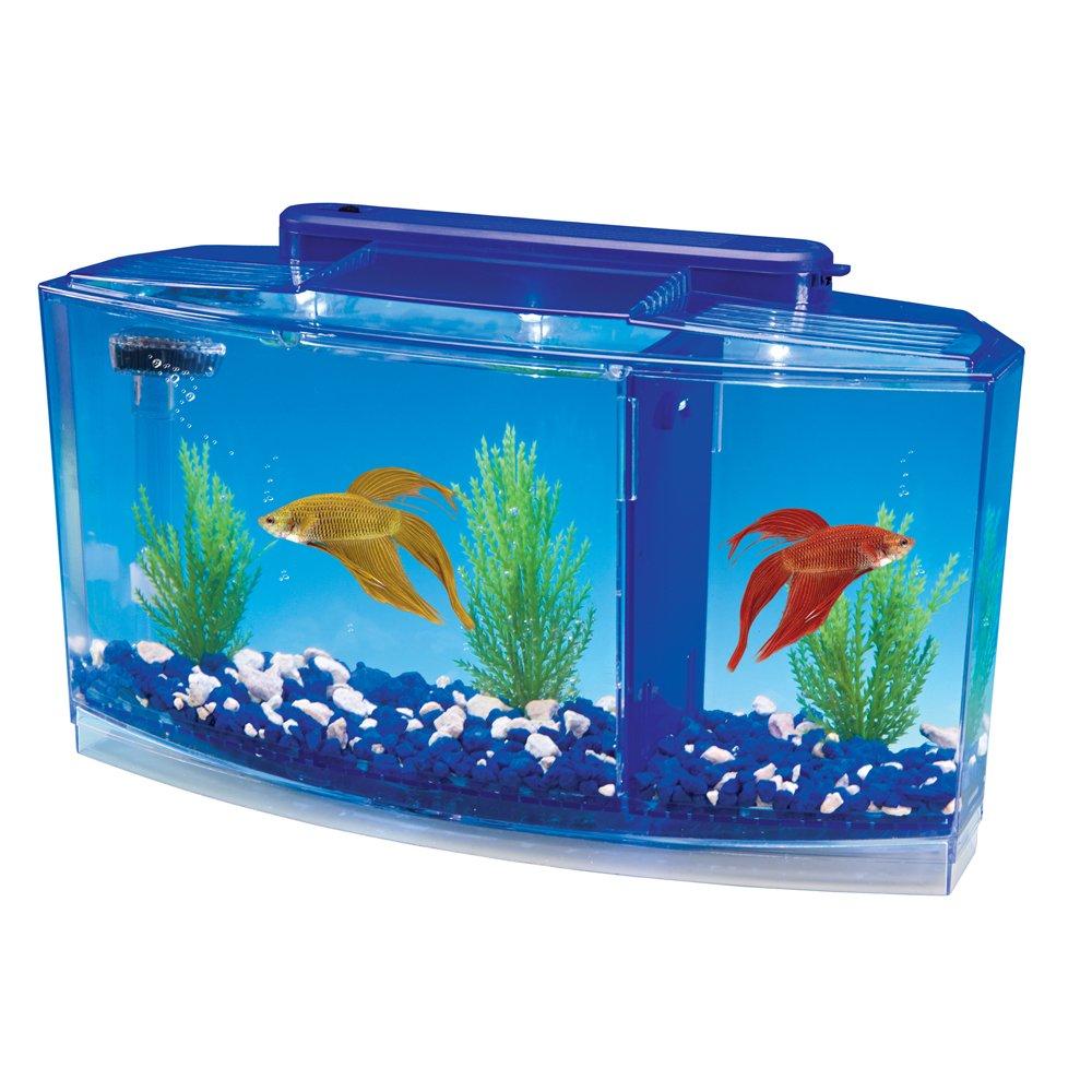 Fish aquarium online india - Amazon Com Penn Plax Deluxe Triple Betta Bow Aquarium Tank 0 7 Gallon Betta Fish Tanks Pet Supplies