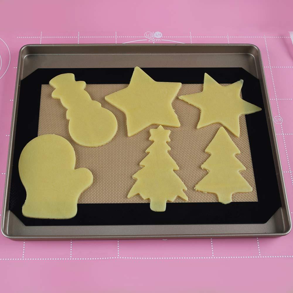 fondant 4 piezas su/éter copo de nieve acero inoxidable manopla para galletas mu/ñeco de nieve Cortador de galletas de Navidad Cortadores Galletas Invierno Navidad