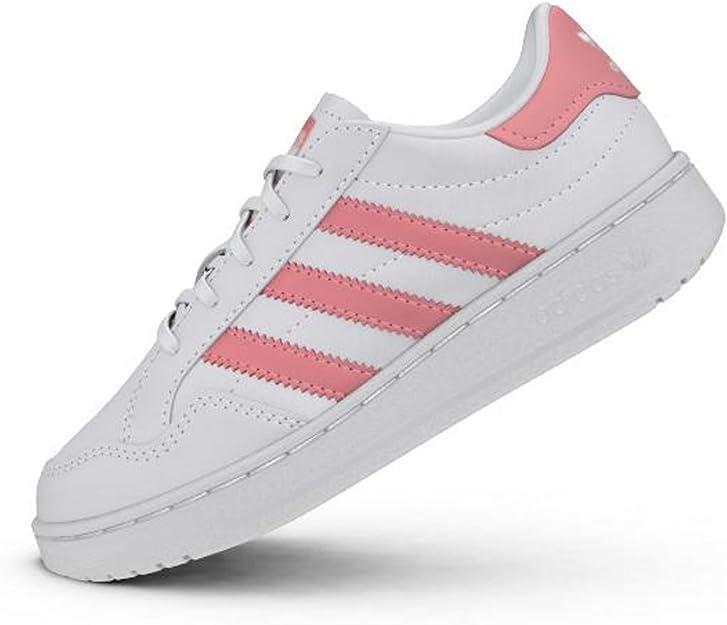 adidas Originals Team Court C BlancRose (WhiteGlow Pink
