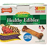 Nylabone Healthy Edibles Roast Beef and Chicken Flavored Variety Pack, 34 Count