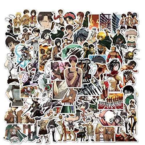 Attack On Titan Stickers 100PCS AOT Stickers Cool Anime Stickers Vinyl Waterproof Stickers for Teens Adults Laptop Water Bottles Skateboard Guitar