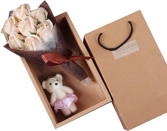 Liancany - Ramo de rosas para manualidades, diseño de osito, caja ...