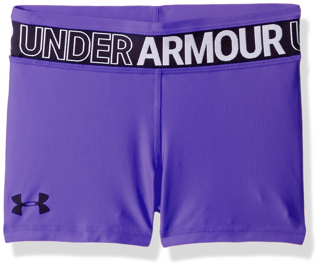 Under Armour Girls' HeatGear Armour Shorty, Constellation Purple (530)/Black, Youth Large