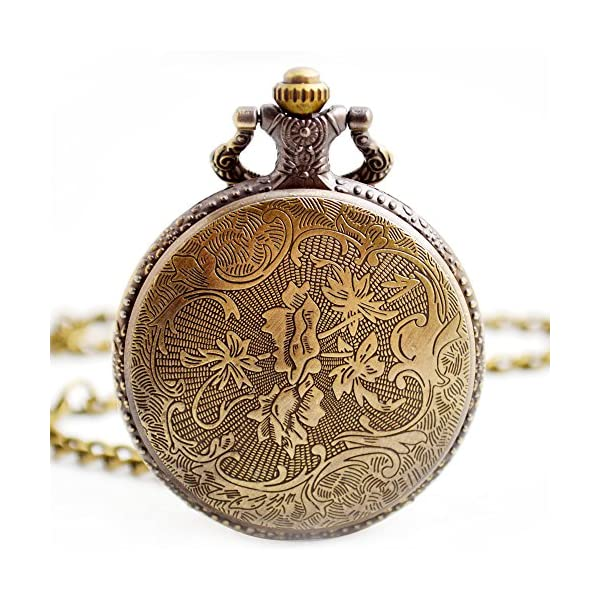 BOSHIYA Men's Pocket Watch Perfect Anniversary Gift Classic Vintage Quartz Watch Animal Deer Pocket Watch Accessories 5