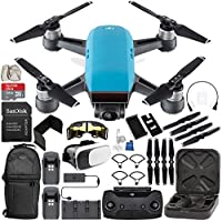 DJI Spark Portable Mini Drone Quadcopter Fly More Combo (Sky Blue) EVERYTHING YOU NEED Bundle
