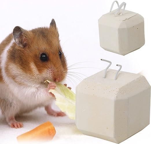 conejo p/ájaro juguete piedra de afilar de calcio para h/ámster ECMQS Juguete para masticar mascotas peque/ñas