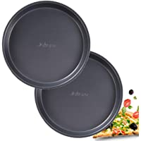 2PCS Pizza Pan Non-Stick,9inch Round Pizza Tray Carbon Steel Bakeware Baking Pan,Deep Dish Cake Mold Round Baking Tray Heat-resistant