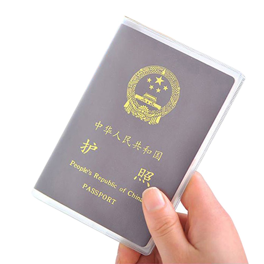 Shuohu Clear Transparent Passport Cover Holder Case Organizer ID Card Travel Protector
