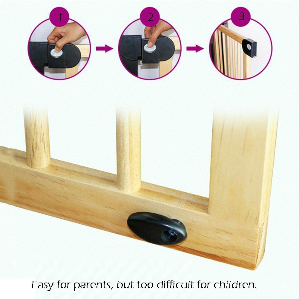 Zaun Breite 76-153 cm Kindersicherungstor Wood Baby Gates Treppengel/änder Isolierungsgel/änder Farbe : A, gr/ö/ße : Width 76-83cm