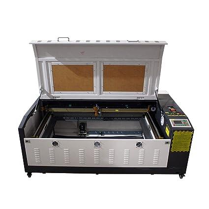 TEN-HIGH 1060 90W Máquina de corte y de grabado por láser, con escritorio