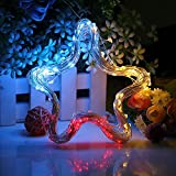 Hallomall 150LED 72ft Outdoor Solar Powered Copper Wire String Lights, Waterproof Solar Fairy Decoration Lights for Garden, Home, Patio and Christmas Party- 2 Modes, Multi-Color