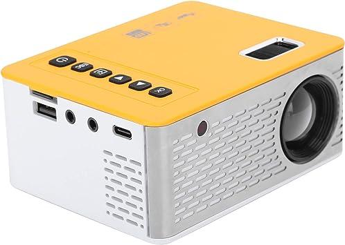 Opinión sobre ASHATA Mini proyector LED, proyector para niños LED Mini portátil en casa Cine Familiar Cine TV de Pared UC28D 5V/2A, admite Tarjeta de Memoria, Entrada de Puerto USB, Entrada AV y Salida de Audio.