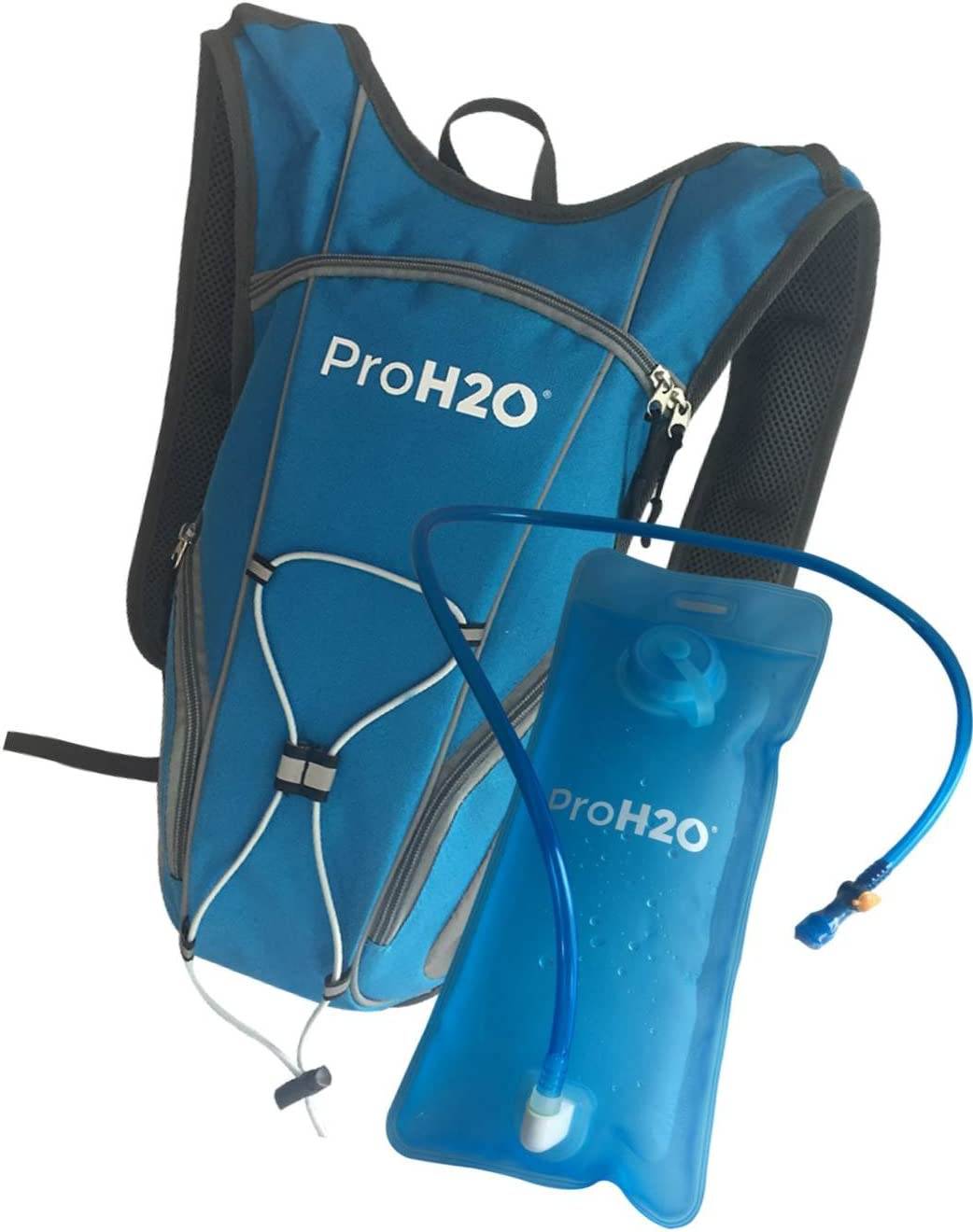 ProH2O 2L Hydration Backpack for Running, Hiking, Cycling – Ergonomic Design Molds to Your Back and Provides Hydrating Liquids for Outdoor Activities Easy to Use Bite Valve, Non Leak Bladder