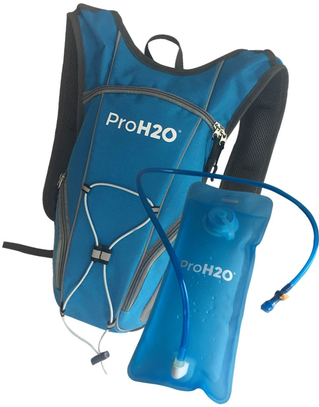 ProH2O Hydration Backpack for Running, Hiking, Cycling - Ergonomic Design Molds to Your Back and Provides Hydrating Liquids for Outdoor Activities | Easy to Use Bite Valve, Non Leak Bladder