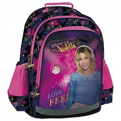 Disney-Mochila escolar para niño, diseño de VIOLETTA-calidad superior: Amazon.es: Equipaje