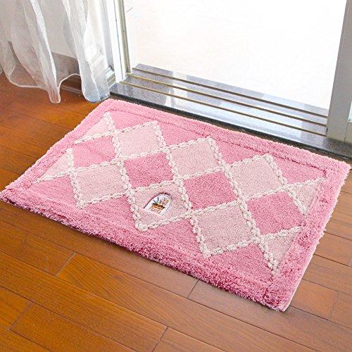 Door mat door mat door bathrooms in the Hall toilet bathroom mat absorbent bathroom mat rug mat Pink by ZYZX
