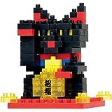 ナノブロック 黒招き猫