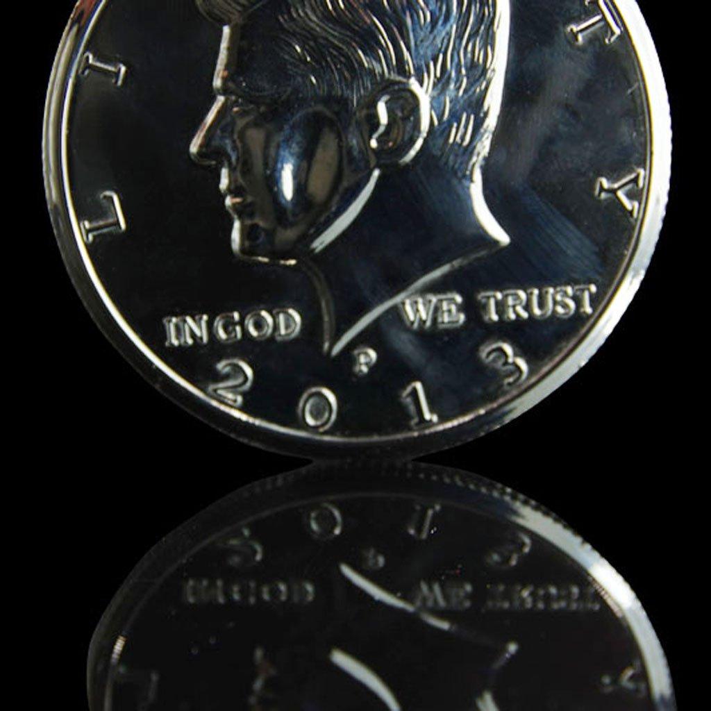 Plata Grande Truco de la Moneda Primer Plano Magia de D/ólar Llusi/ón Gigante Moneda