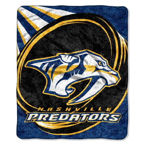 The Northwest Company Officially Licensed NHL Nashville Predators Puck Sherpa on Sherpa Throw Blanket, 50
