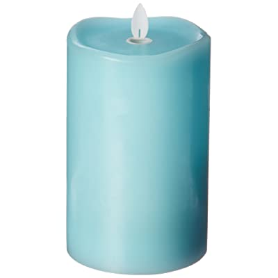 Sterno Home MGT12854TQ Turquoise Wax Pillar with Timer: Home Improvement