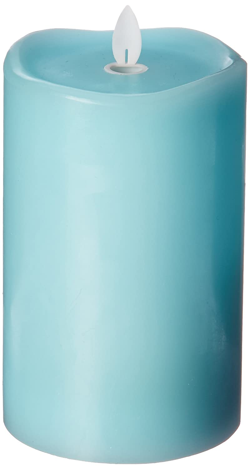 Candle Impressions MGT12854TQ Turquoise Wax Pillar with Timer