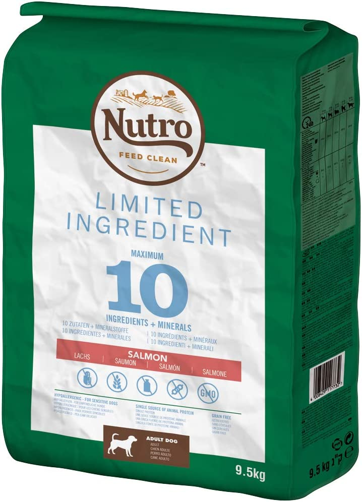 NUTRO Pienso Limited Ingredient Diet Adulto Razas Medianas Salmón: Amazon.es: Productos para mascotas