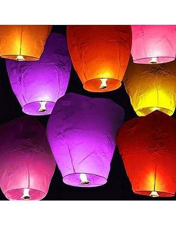 TopDirect 20 Piezas Farolillos voladores Blancos - Sky Lanterns Lámpara de Papel Linternas Chinas del Cielo