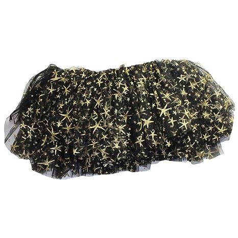 Patrón niñas falda del tutú de tul Negro Estrella partido de los ...