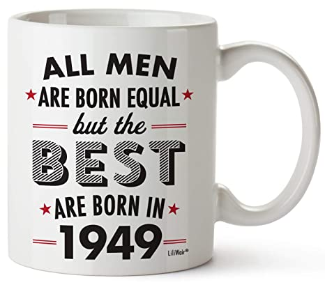 70th Birthday Gifts For Seventy Years Old Men Gift Mugs Happy Funny 70 Mens Man Best Friend 1949 Male Mug Unique Ideas 49 Wife Gag Dad Cute Girls Guys