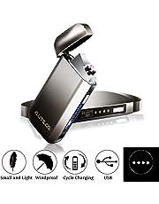 AUTSCA Accendino Elettrico, Accendino USB, Ricarica USB, Accendino ad Arco Innovativo Antivento