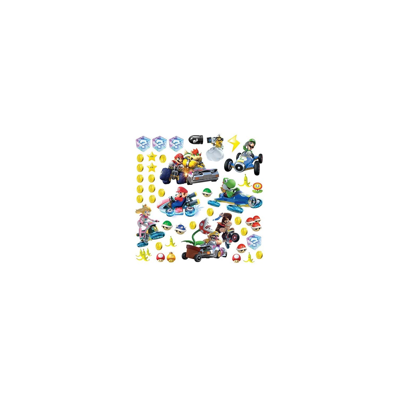 RoomMates Ninetendo Mario Kart 8 Peel And Stick Wall Decals , 10″ x 18″ – RMK2728SCS