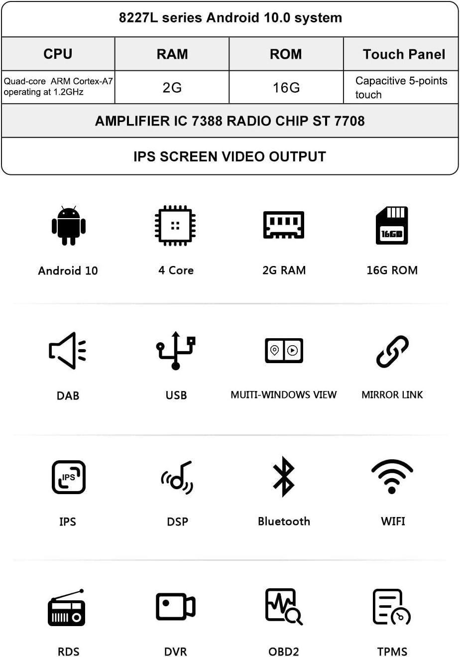 BOOYES para Mercedes-Benz W169 W245 B160 B170 B180 B200 W639 Vito Viano W906 Sprinter VW Crafter Android 10.0 Radio para auto Est/éreo GPS 9 Reproductor multimedia para auto Reproducci/ón autom/ática